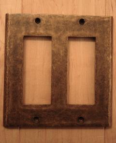 真鍮 スイッチプレート/コンセントカバープレート PL-06-AN(790054)