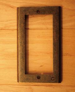 真鍮 スイッチプレート/スイッチカバーPC-AN(790221)