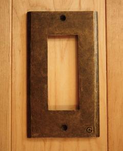 真鍮 スイッチプレート/スイッチカバー PL03AN