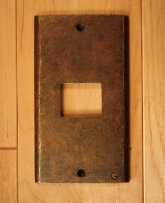 真鍮 スイッチプレート/スイッチカバー PL01AN