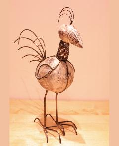 アイアン 雑貨・置物/にわとりオブジェ04/AZODRONA0013 【アジアン雑貨】【バリ雑貨】