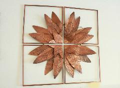 アイアンウォールデコ(壁掛け飾り、アート)キャトル フラワー
