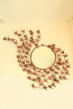 アイアン 壁掛けミラー/鏡 (ハチドリ) 【アジアン雑貨】【バリ雑貨】