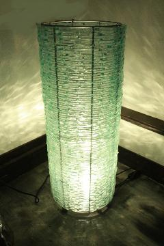 スタンドライト/照明・ランプ(ガラス・ロール 大)