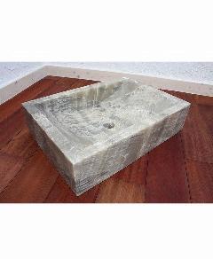 天然石洗面 (大理石)カーキ系020