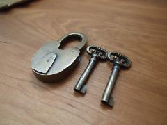 真鍮  錠前・鍵セット X033(小)