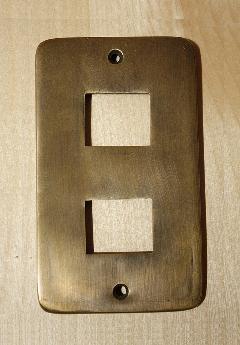 真鍮 スイッチプレートPB02