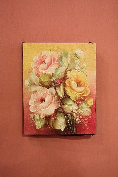 200×250 バラC (アートパネル、アート絵画、ハンドメイド)