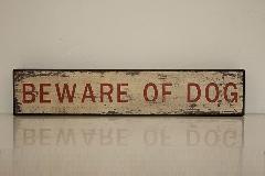 ウッドボード beware of dog