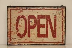 ウッドボード open closed