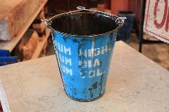 リサイクルドラム缶ポット ツートン バケツ L