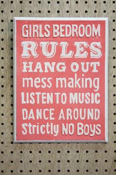 Rules Bedroom B
