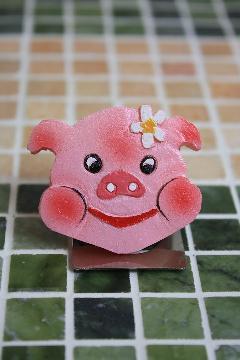 ぶたちゃんマグネット A(ピンク)