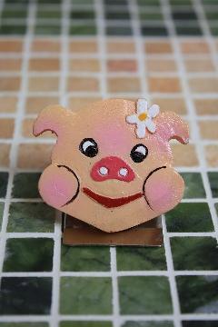 ぶたちゃんマグネット B(薄ピンク)