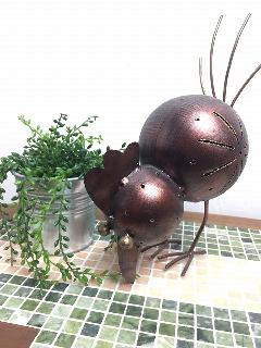 アイアン 雑貨・置物/にわとりオブジェDRONA002 【アジアン雑貨】【バリ雑貨】