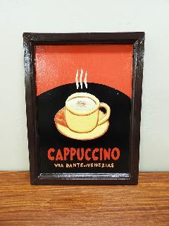 サインボード CAPPUCCINO(カプチーノ) (アンティークアート ヴィンテージアート)