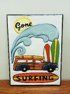 サインボード GONE SURFINE (アンティークアート ヴィンテージアート)