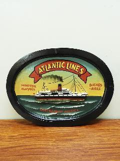 サインボード ATLANTIC (アンティークアート ヴィンテージアート)