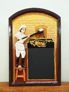 サインボード MENU03 (メニューボード チョークボード アンティークアート ヴィンテージアート)