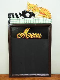 サインボード MENU04 (メニューボード チョークボード アンティークアート ヴィンテージアート)