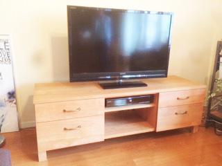 ブラックチェリー材TVボード