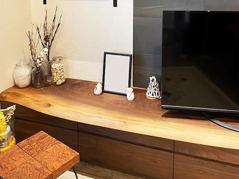 一枚板TVボード ウォールナット