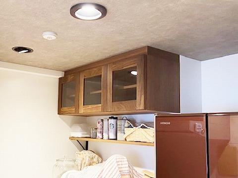 キッチン 吊戸棚 ウォールナット
