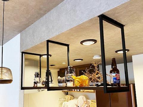 キッチン吊り棚 ウォールナット