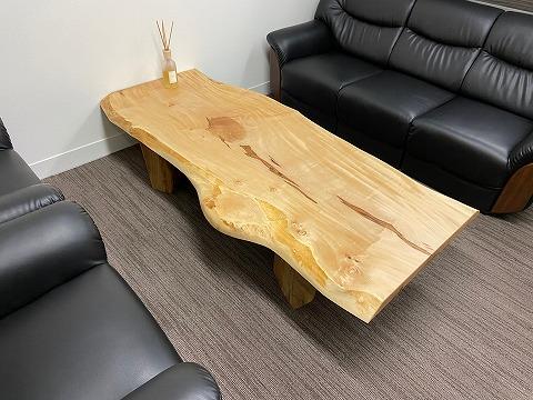 栃 一枚板 ローテーブル