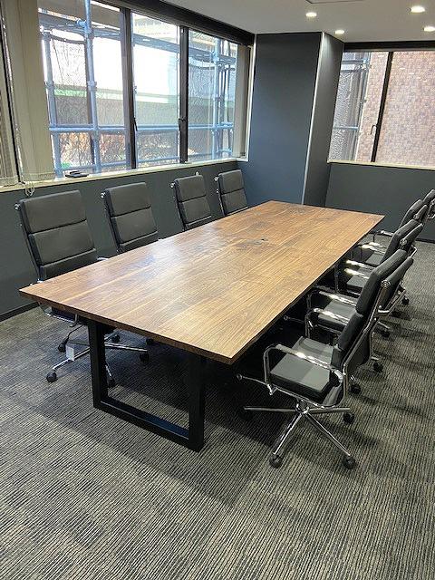 ウォールナット 一枚板会議室テーブル