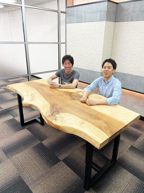 栃 会議室用一枚板テーブル