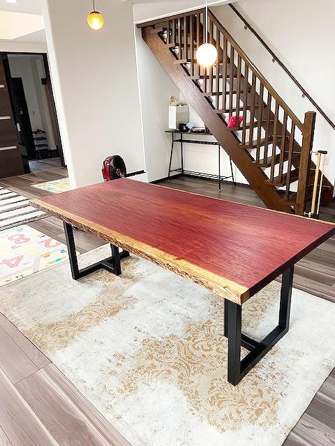 一枚板テーブル パープルハート
