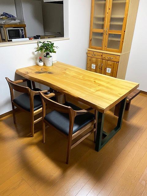一枚板テーブル イチョウ