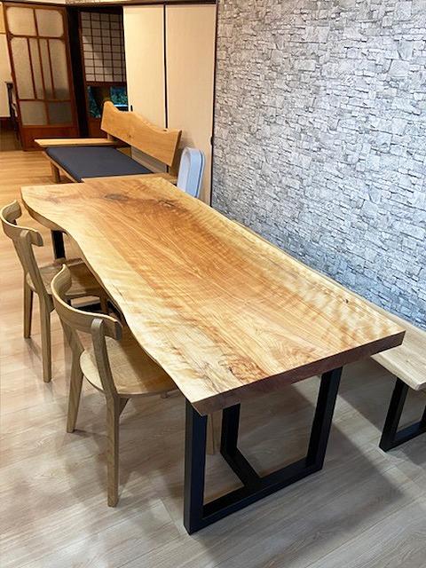 一枚板テーブル カバ