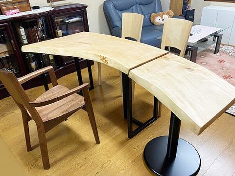 一枚板テーブル・ティーテーブル 栃(トチ)