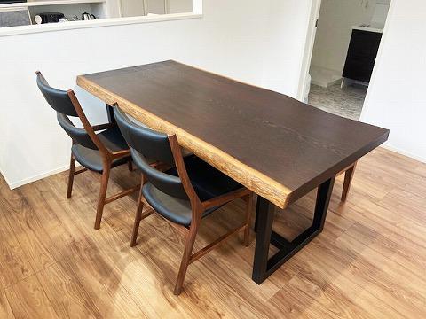 一枚板テーブル ウエンジ