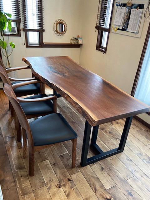 一枚板テーブル ウォールナット