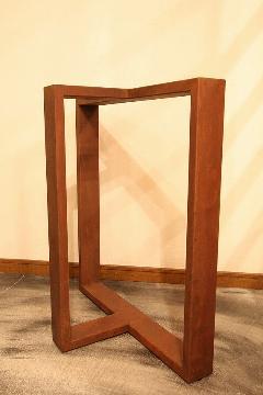 一枚板テーブル用 オリジナルアイアン 調色B脚 国産L0014