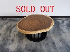 一枚板天板 (モンキーポッド)楕円T0003