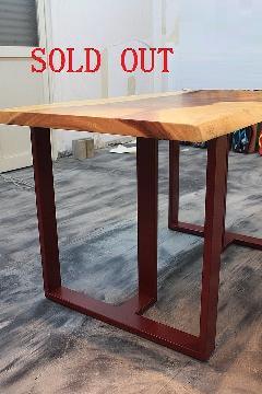 一枚板テーブル用 オリジナルアイアン 調色B脚 国産L0020