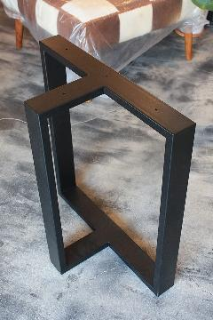 一枚板テーブル・座卓兼用調色B脚 アイアンT型(梨地塗装) NS-LT0013