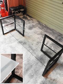 W1300×D290 6mm厚 すりガラス (TVボード用L型脚対応) NS-TVglass0011