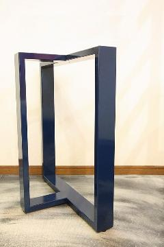 一枚板テーブル用 オリジナルアイアン 調色B脚(ネイビー) 国産L0011