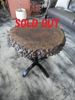 一枚板ティーテーブル (クラロウォールナット)T0711U