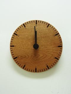 木の時計 008 (ブラックチェリー)