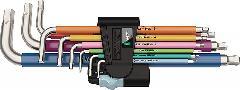 Wera 3950/9 Hex-Plus Multicolour Stainless  022669
