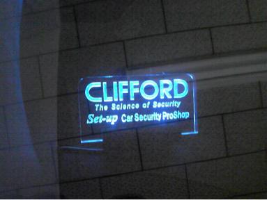 アルファードのクリフォード取り付け例