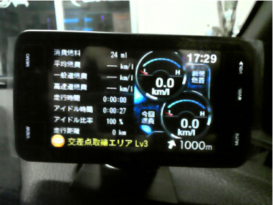BRZのレーダー探知機取り付け例