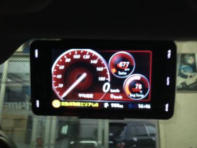 BMW530(F10)のレーダー探知機取り付け例