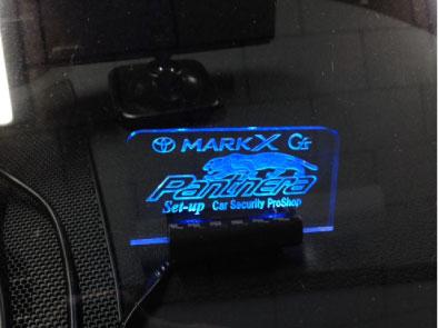 マークXG'sのアクリルロゴスキャナー取り付け例